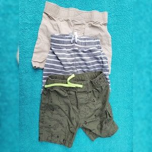 Carters Baby Shorts 3 Pairs Size 18 Months